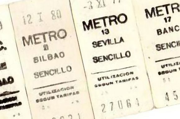 El billete de metro